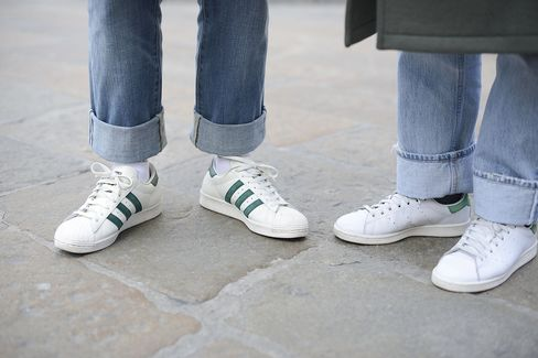 Adidas Stan Smith shoes.