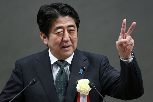 Japan Loses to Europe as Abe Heads to Davos to Promote Recovery