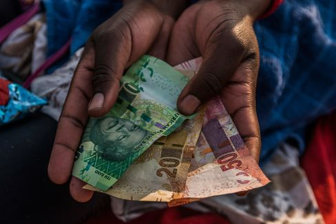 South Africa's Rand As It Tumbles To Record Low