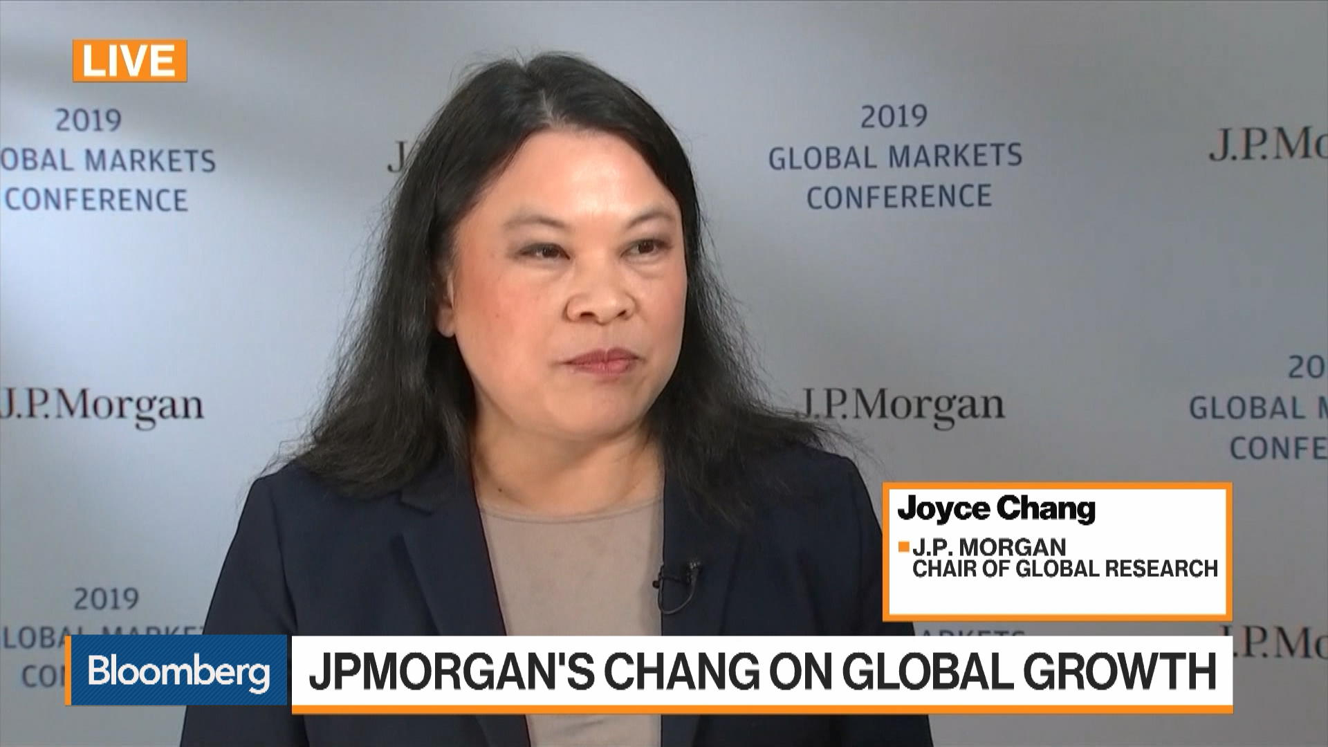 JPMorgan's Chang on Global Growth, U S  Recession, Brexit