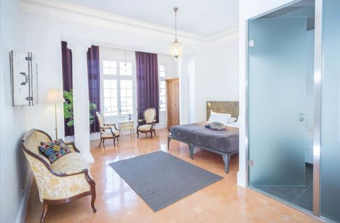 A private room at Casa Gracia, an upscale hostel in Barcelona