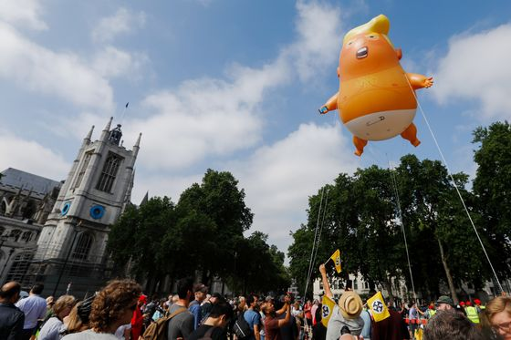 Tens of Thousands of Protesters Welcome Trump to London