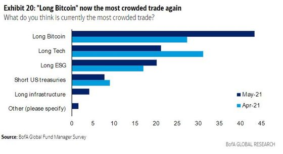 Fund Managers Say 'Long Bitcoin' Is the Most Crowded Trade in the World