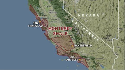 The Monterey Shale stretches beneath the heart of the environmental movement in California