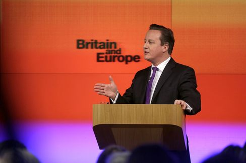 Cameron Pledges Referendum by 2017 on U.K. Leaving EU