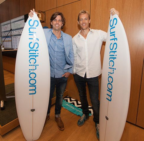 Lex Pedersen and Justin Cameron, founders of SurfStitch.