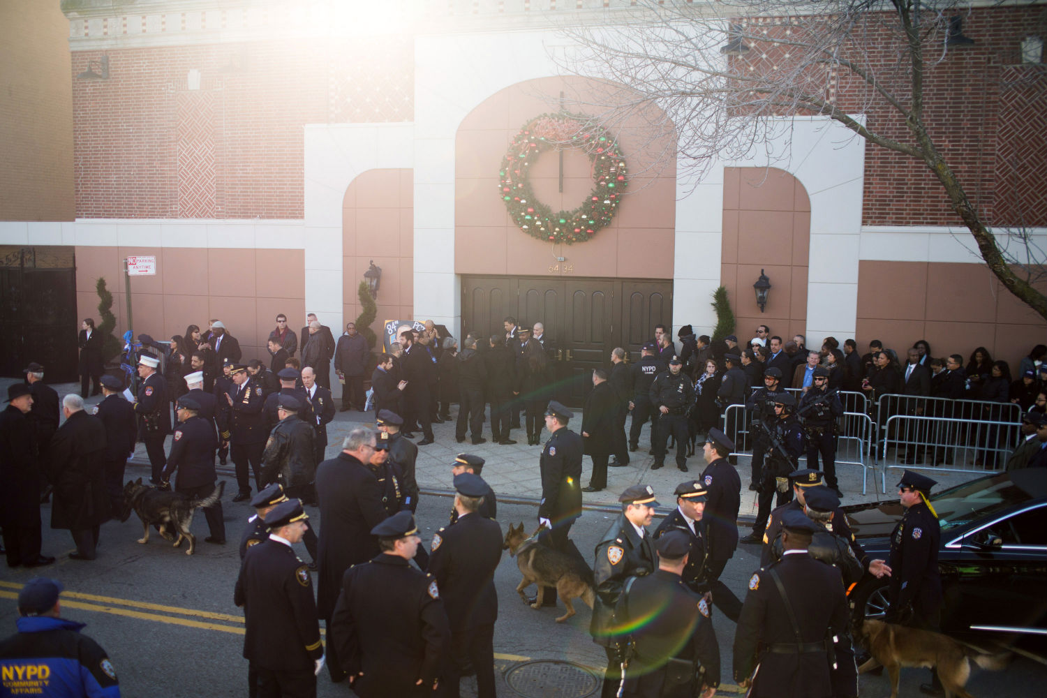About 25,000 officers attended Ramos' funeral at Christ Tabernacle Church.