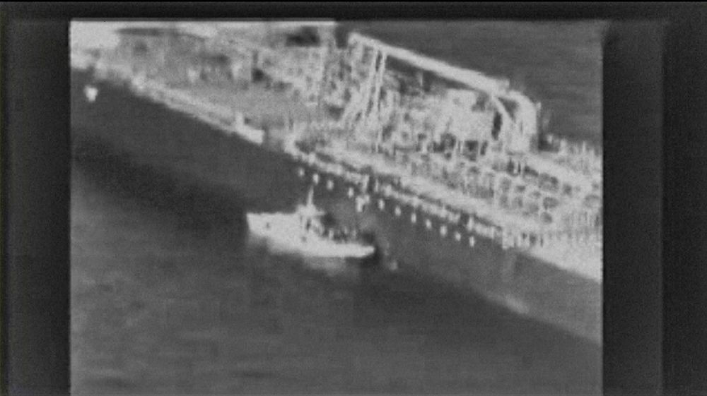 A grab from video released by the US Central Command.