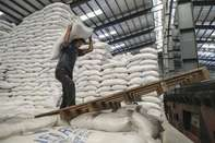 Operations At A Government Rice Warehouse As Vietnam Halts Exports of Crop