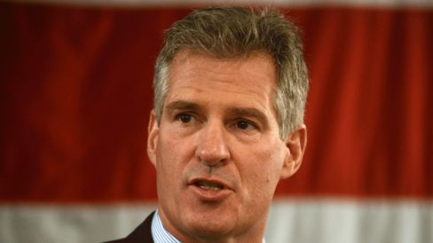 Scott Brown is pictured April 10, 2014, in Portsmouth,N.H.