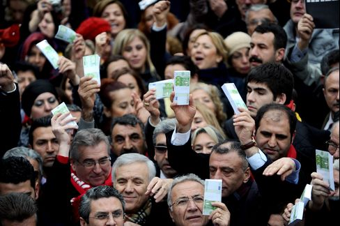 Supporters of Turkey's Main Opposition Party Demonstrate