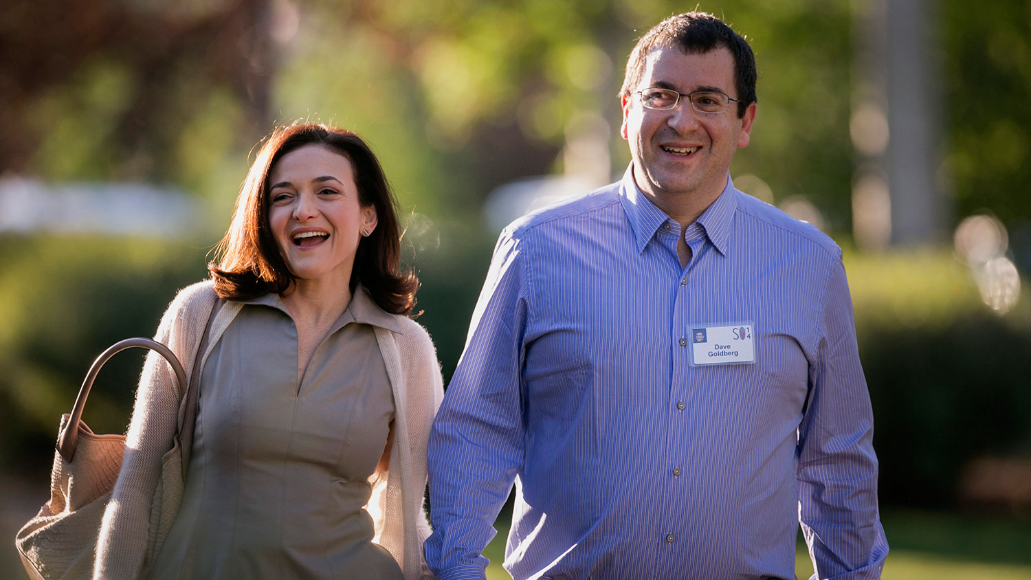Goldberg and his wife, Sheryl Sandberg, at the Allen and Co. Media and Technology Conference in Sun Valley, Idaho, onJuly 9, 2014.
