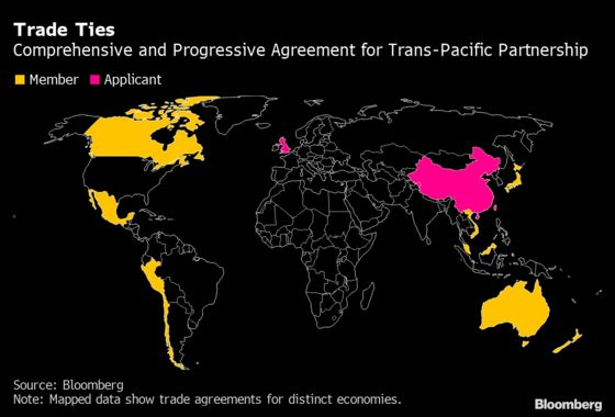 Taiwan Applies to Join Pacific Trade Deal Days After China