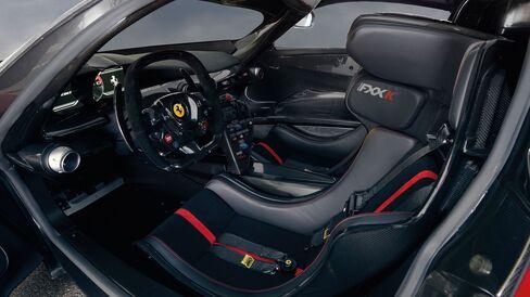 The interior of Ferrari SpA's FXX K prototype hybrid.