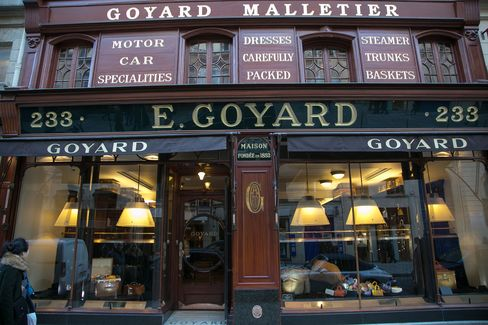 "The ""E. Goyard"" store on the Rue Saint Honore, Paris."