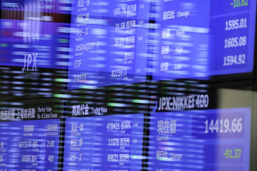 Japan's Topix Set for Lowest Close Since August on Europe Woes