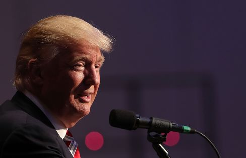 Donald Trump speaks in New York on Sept. 7.