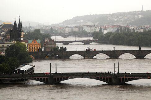 Prague Battered by Floods Hitting Traffic From Rhine to Danube
