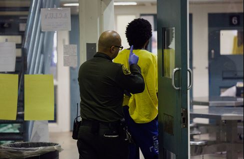 An inmate at a facility in Los Angeles.