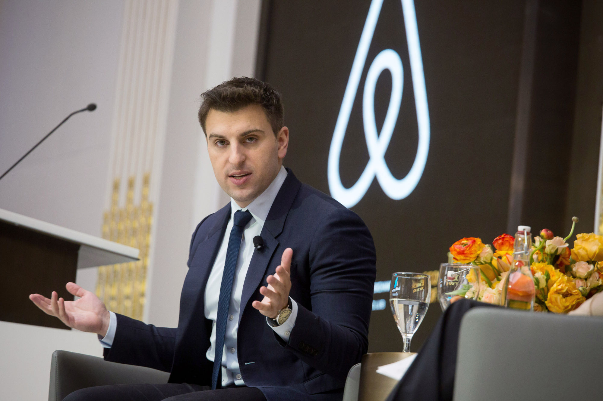 Airbnb Inc. Chief Executive Officer Brian Chesky Speaks At The Economic Club Of New York