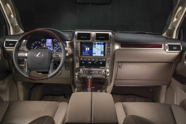 The Dashboard Sits Very High With Traditional Lexus Technology At Front