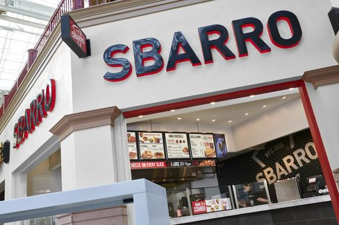 A new stand-alone Sbarro restaurant. Source: Sbarro