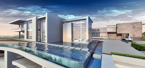 Rendering of Niami's under-construction mansion in L.A.'s Bel Air neighborhood.