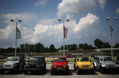 A Jeep Dealership Ahead Of Motor Vehicle Sales