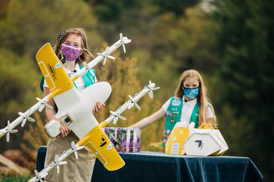 Thin Mints Via Drone Help Girl Scouts Leapfrog Over Covid Limits