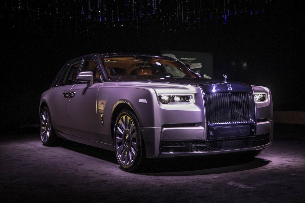 The New Rolls Royce Phantom Viii Manufactured By Motor Cars Ltd Stands On Display During A Media Preview Of Its Unveiling In London
