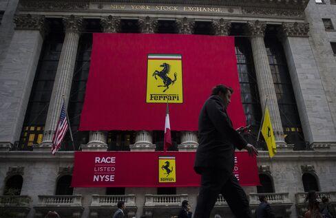 Ferrari NV signage outside the NYSE