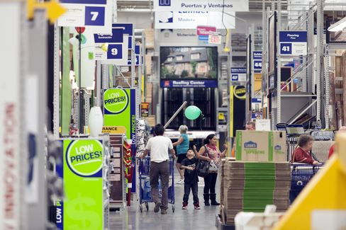 Shoppers Walk Through Lowe's Cos. Store in Renton