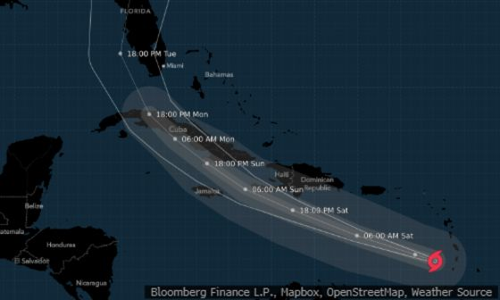 Elsa Weakens Yet Prepares to Batter Jamaica and Eastern Cuba