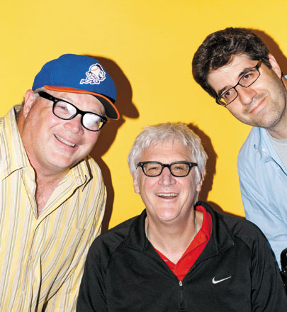 From left: League members (and co-executive producers) Michael Price, Kevin Curran, and Joel Cohen