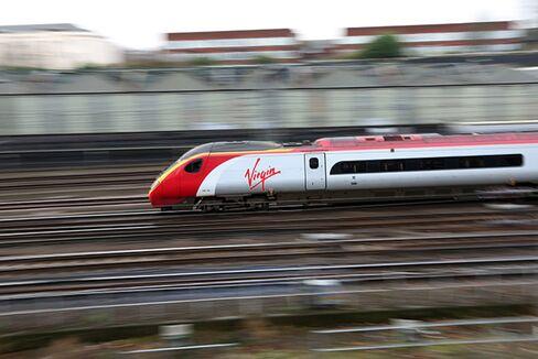 A Virgin Train Arrives in London