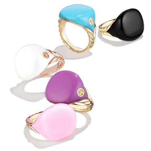 David Yurman's Bubblegum Pinky Ring collection.