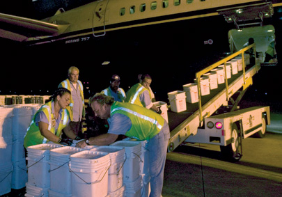 In 2007, unloading the coins in Florida
