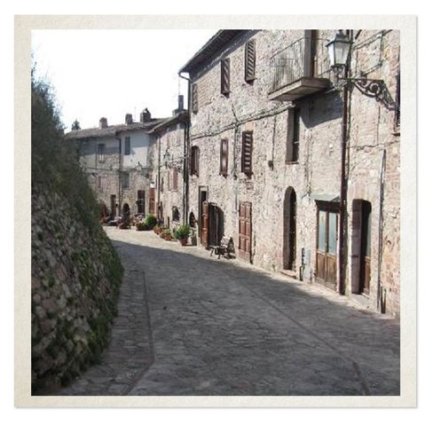 The castle is surrounded by the village of Sismano. The sale comes with some, but not all, of the property here.