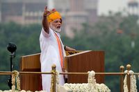 India Prime Minister Narendra Modi At Red Fort For Independence Day Celebrations