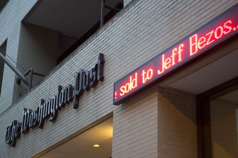 Amazon's Jeff Bezos to Buy Washington Post for $250 Million