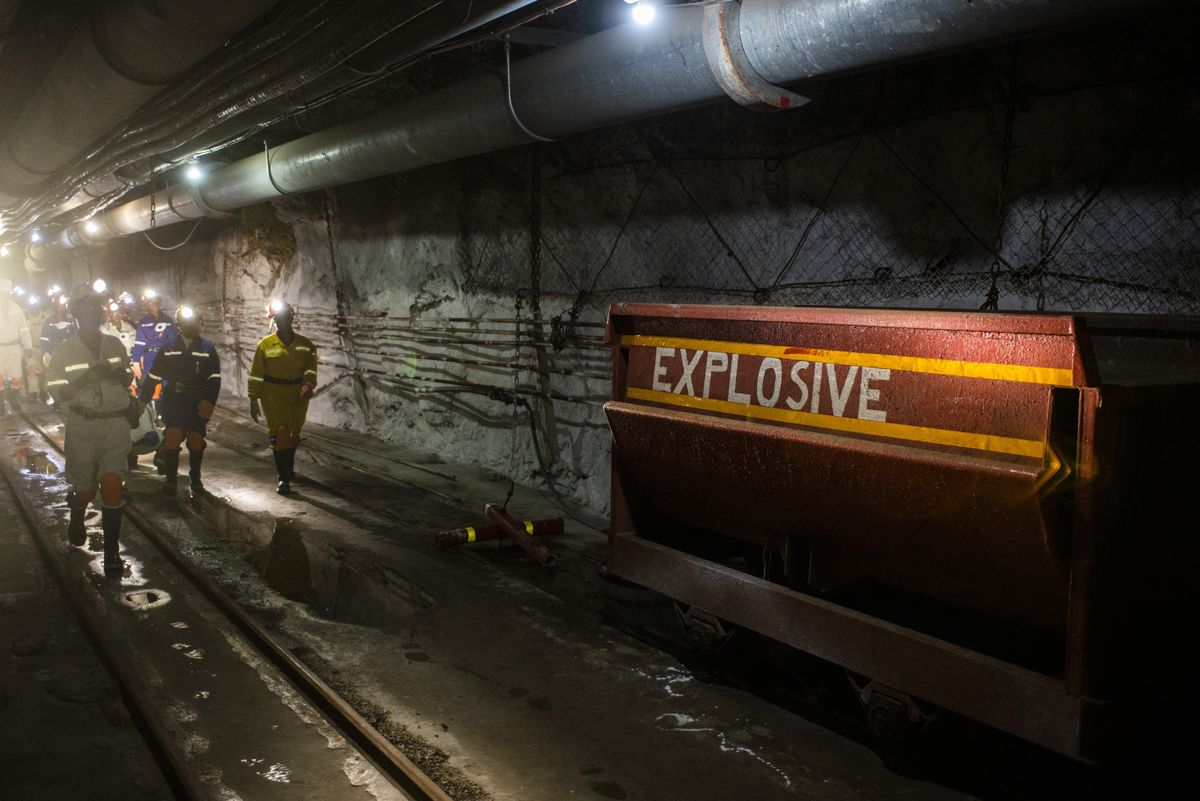 A Mile Below Ground Is the Dangerous World of Precious Metals