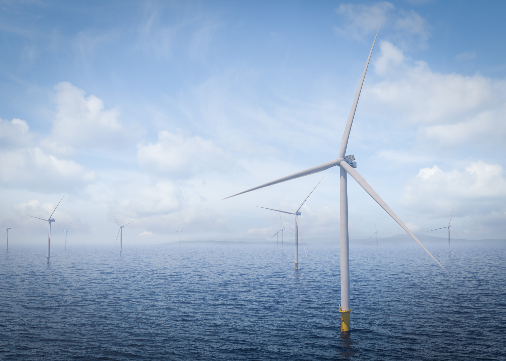 A rendering of Vestas's V236-15.0 MW turbine, which will be the largest in the world.