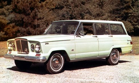 The 1963 Wagoneer was the first of the full-size Jeeps. Note how the styling cues remain virtually the same as on the final model.