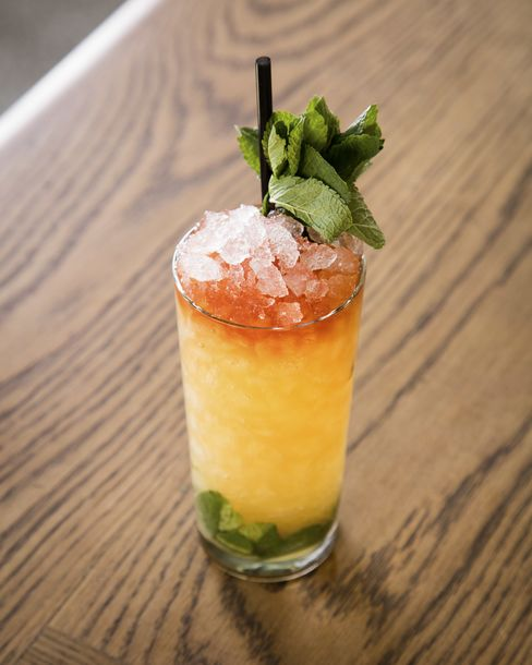 The Matador Swizzle is one of several excellent cocktails.
