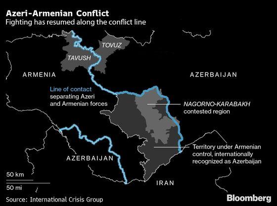 Azeris, Armenians Plunge Into War as Russia, Turkey Watch