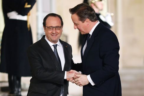 Hollande meets with Cameron Feb. 15
