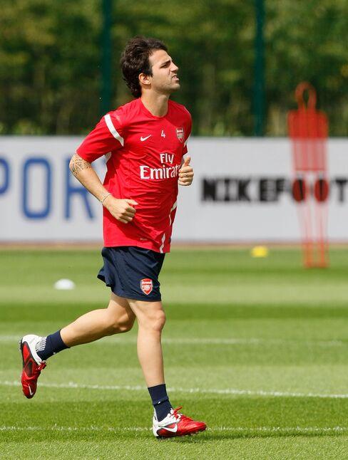 Arsenal Spanish Midfielder Cesc Fabregas