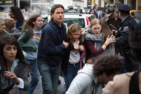 Brad Pitt's Zombie Apocalypse Escapes Box-Office Doom in Rewrite