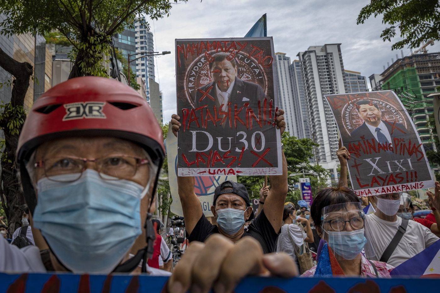 People Protest Against Chinese Intrusions In The Philippines' Waters