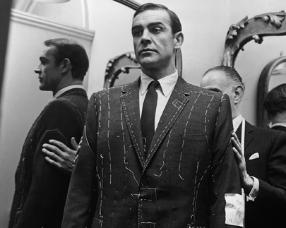 A most suitable 007: Sean Connery being fitted by Sinclair